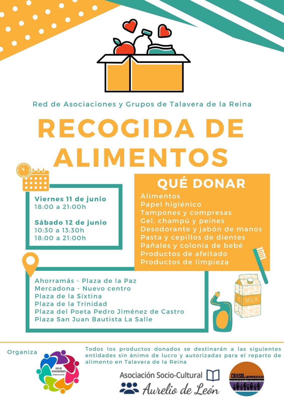 INICIATIVA SOLIDARIA ESTE FIN DE SEMANA ¡¡ RECOGIDA DE ALIMENTOS!!